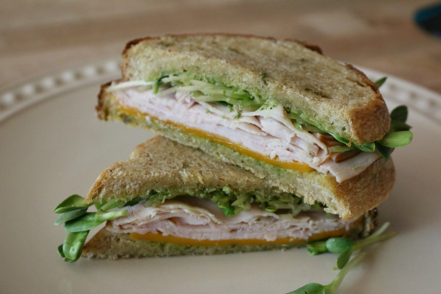 Green Chile Sourdough Turkey Sandwich, I grilled it, but honestly it ...