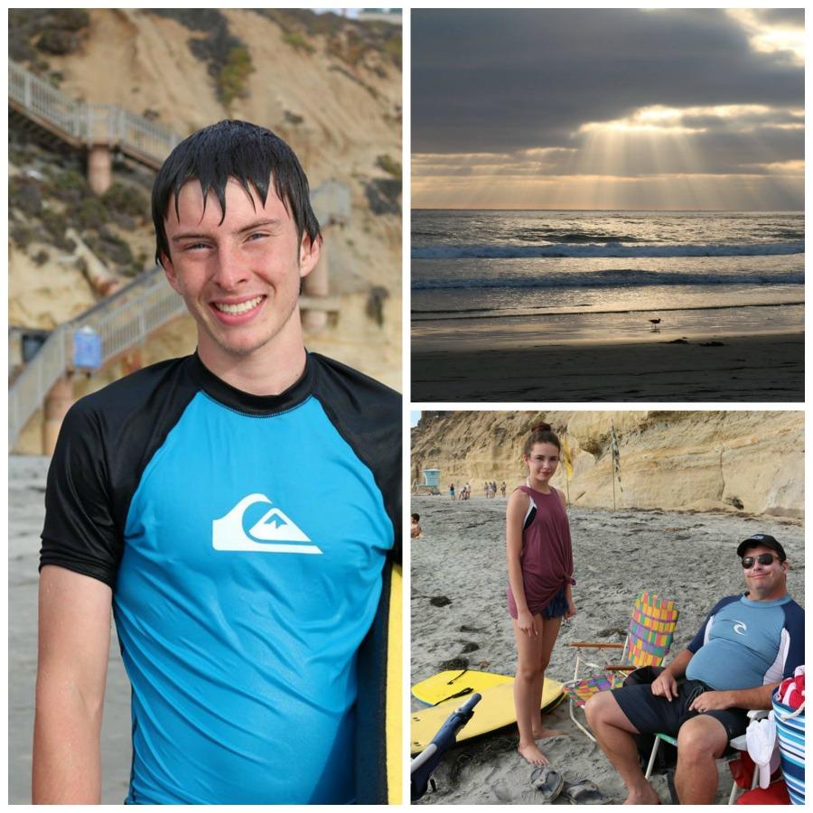 Family Photos of our trip to San Diego, California. Solana Beach.