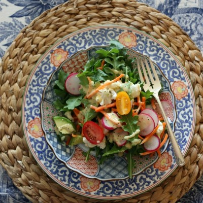 Arugula Salad with Sweet Vidalia Onion Dressing