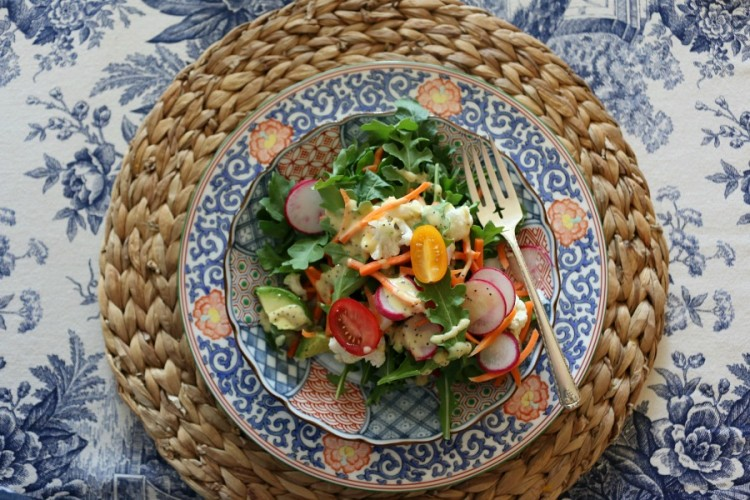 Arugula Salad with Sweet Vidalia Onion Dressing