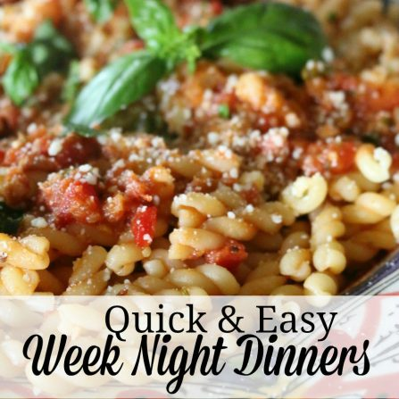 Quick and Easy Week Night Dinners - EBook Cookbook for sale for only $.99 -
