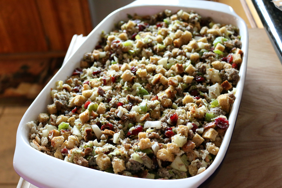 Sausage and Cranberry Holiday Stuffing