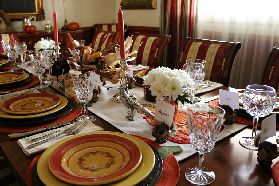 Thanksgiving Table Setting - half the fun is setting a beautiful table.
