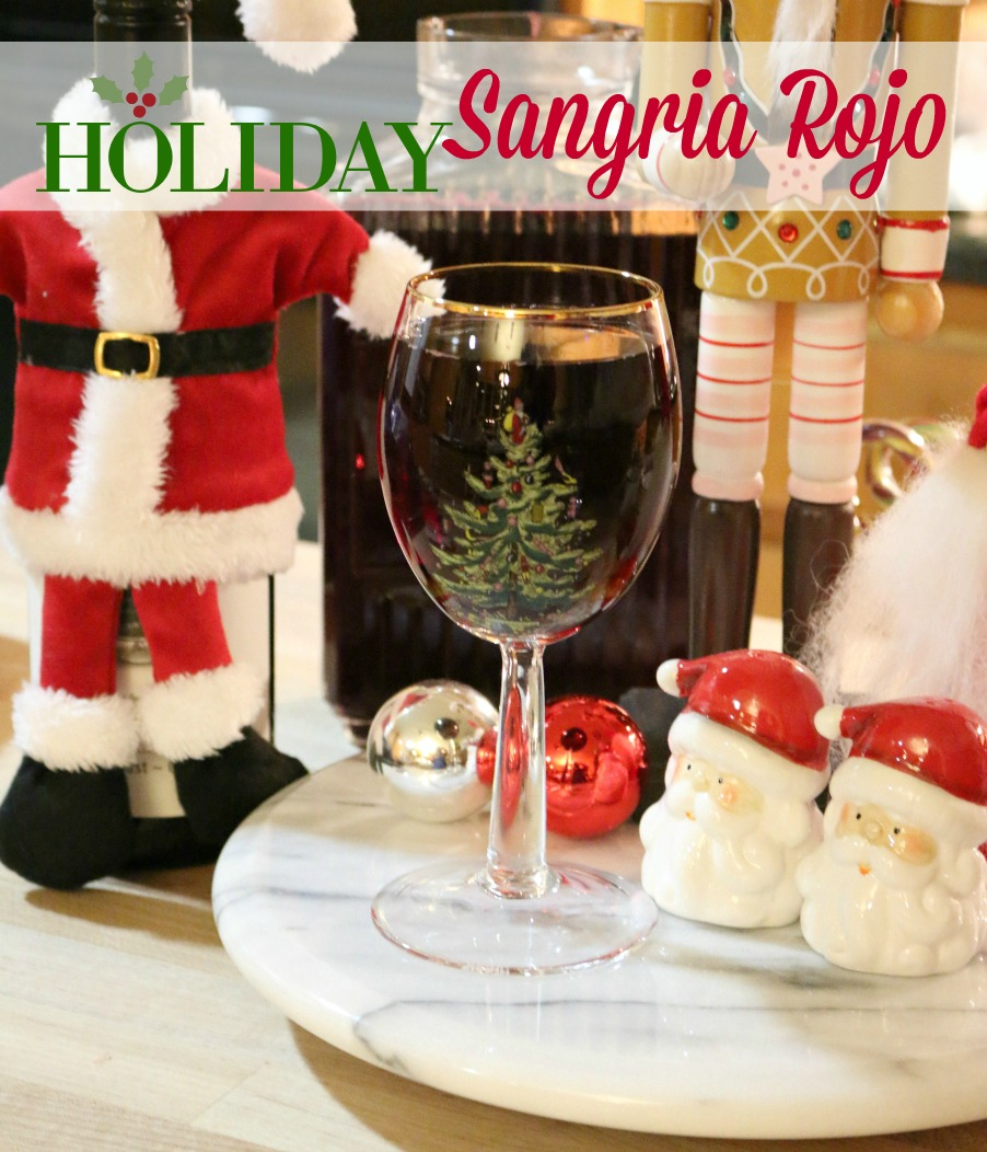The perfect holiday party recipe for Sangria Rojo.  CeceliasGoodStuff.com | Good Food for Good People