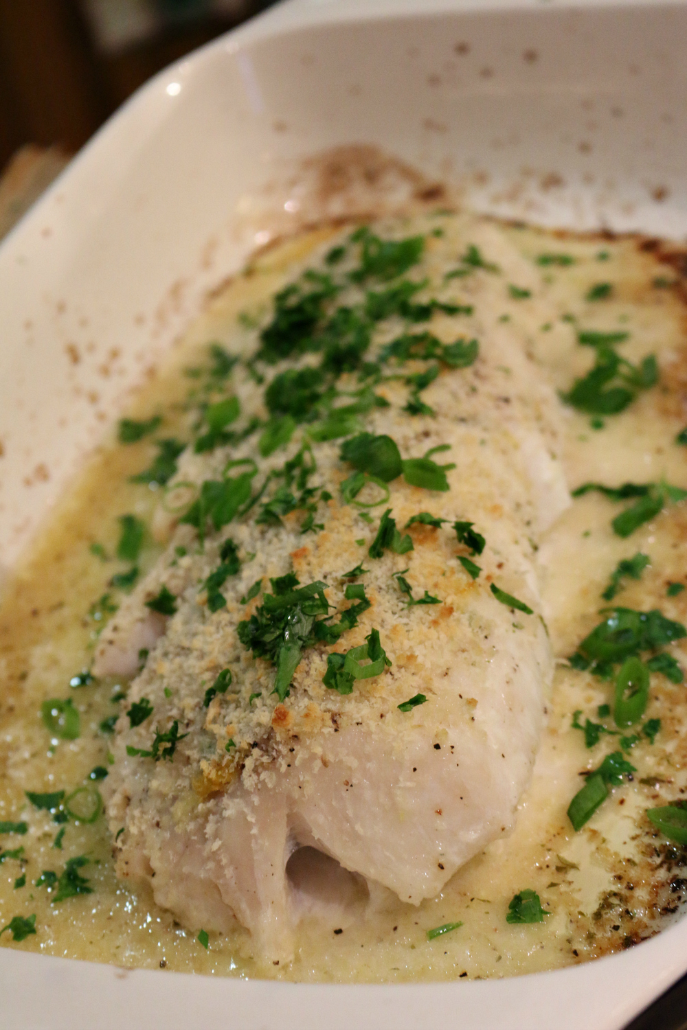 The fresh lemon and herbs really make the dish. Easy recipe for Oven Baked Cod.