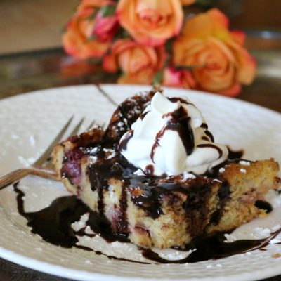 Chocolate & Cherry Bread Pudding