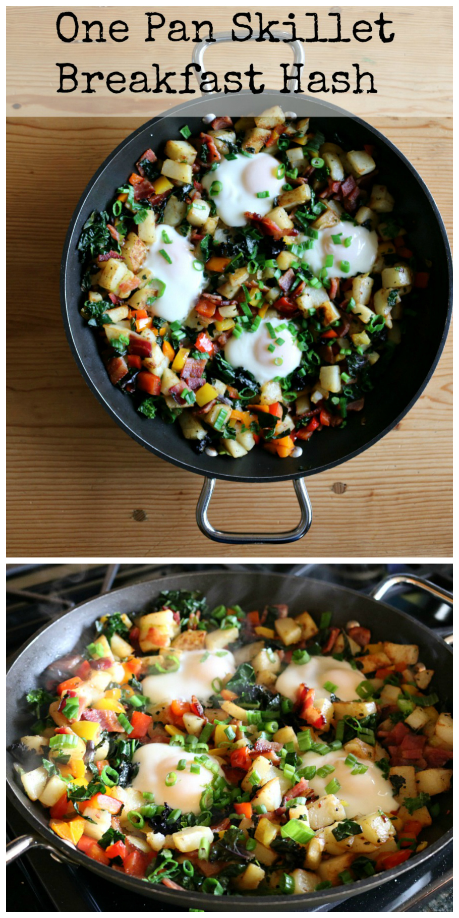One Pan Breakfast Skillet Hash - a healthy and delicious breakfast recipe from CeceliasGoodStuff.com | Good Food for Good People