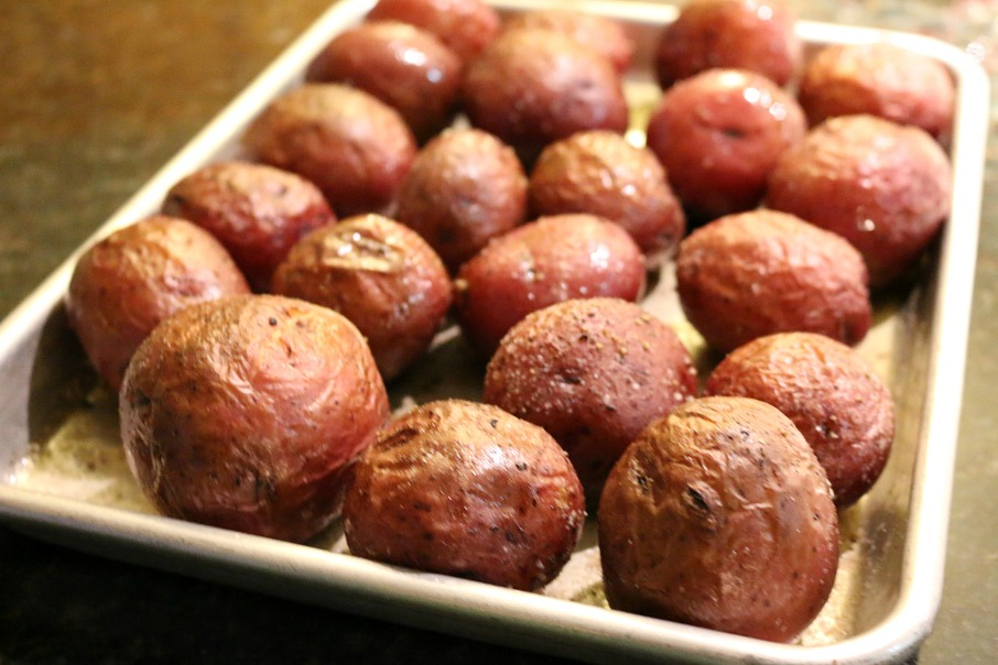 Roasted Red Potatoes pair perfectly with this St. Patrick's Day Corn Beef Crock Pot Recipe