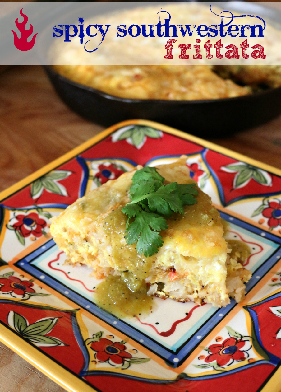 Southwestern Spicy Breakfast Frittata Recipe | CeceliasGoodStuff.com | Good Food for Good People