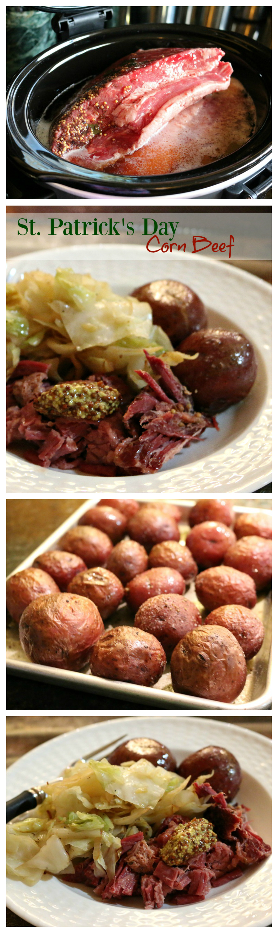 St.Patricks Day Corn Beef Crock Pot Recipe CeceliasGoodStuff.com   Good Food For Good People