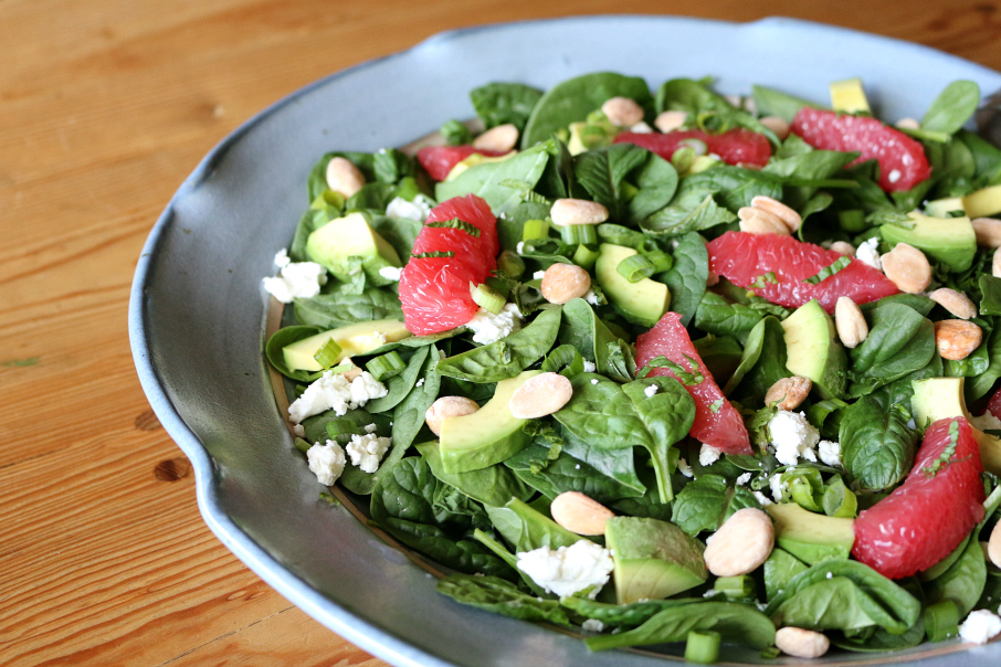 California Spinach Salad | CeceliasGoodStuff.com | Good Food for Good People