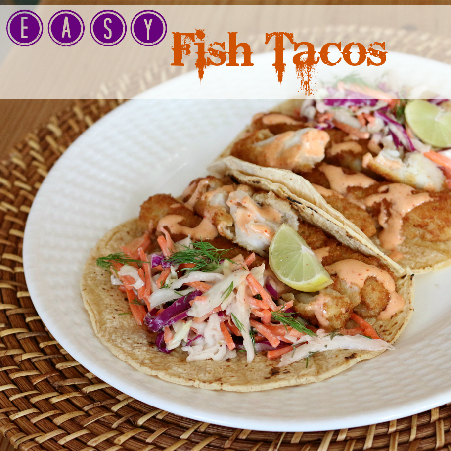 Simple fish taco with chipotle crema for What fish is good for you