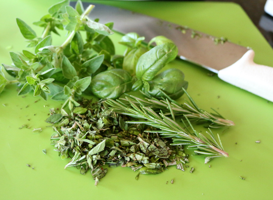 Fresh Herbs for Italian Chicken on the Grill | CeceliasGoodStuff.com | Good Food for Good People