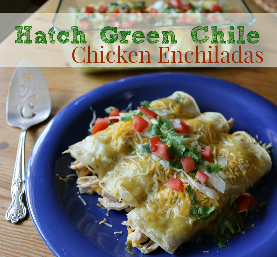 Hatch Green Chile Chicken Enchiladas | Using Hatch Enchilada Sauce | CeceliasGoodStuff.com | Good Food for Good People