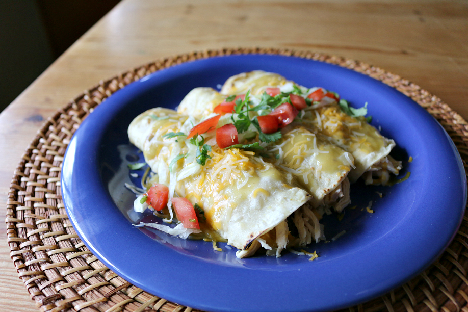 Hatch Green Chile Enchiladas | CeceliasGoodStuff.com | Good Food for Good People