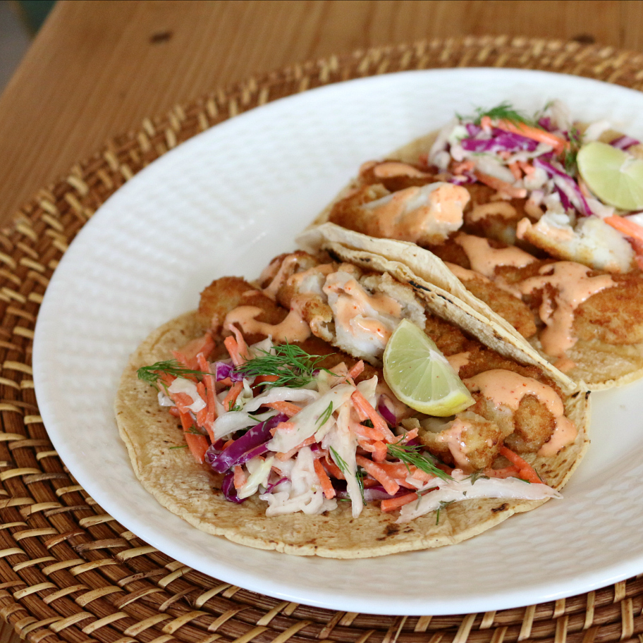 Basic fish tacos recipe dishmaps for Simple fish taco recipe
