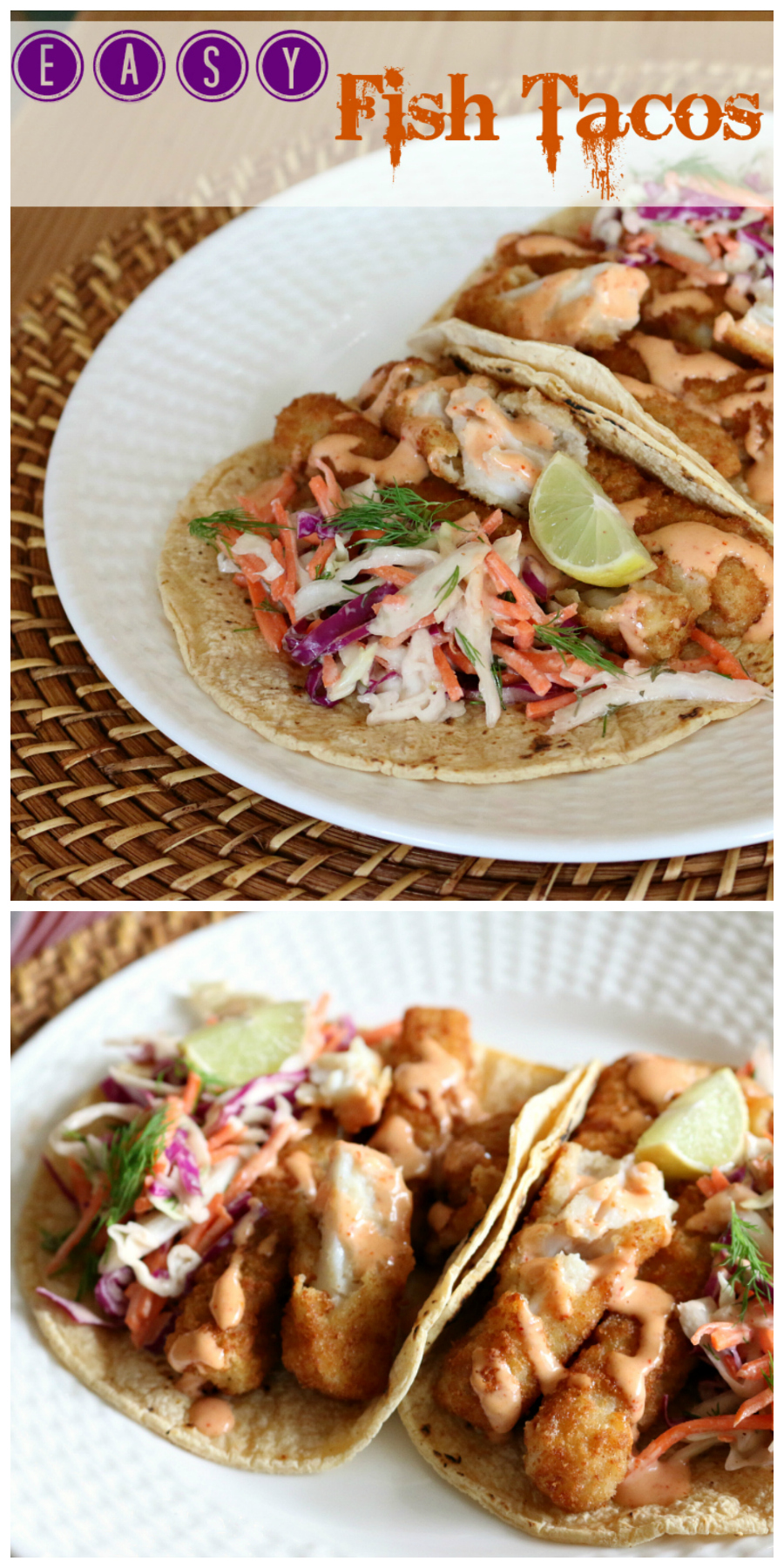 Simple Fish Tacos with Chipotle Crema | CeceliasGoodStuff.com | Good Food for Good People