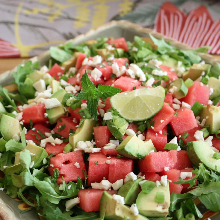 Watermelon Arugula Salad | CeceliasGoodStuff.com | Good Food for Good People