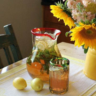 Ginger Lemon Sun Tea