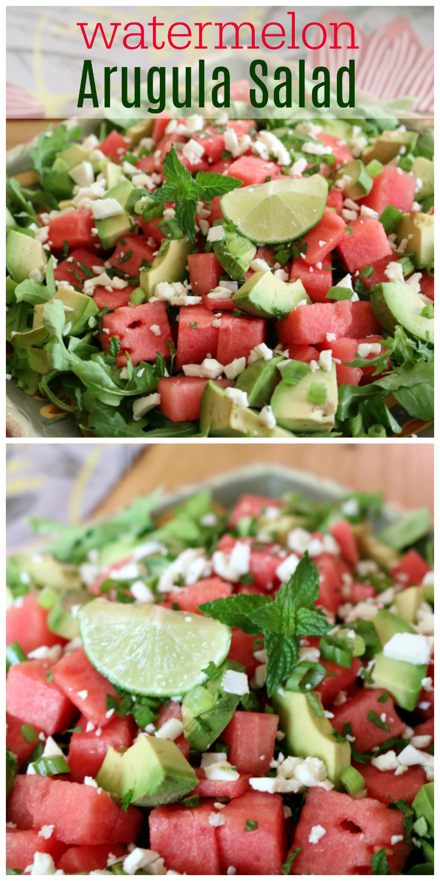 best time for fresh fruit salads. This Watermelon and Arugula Salad ...