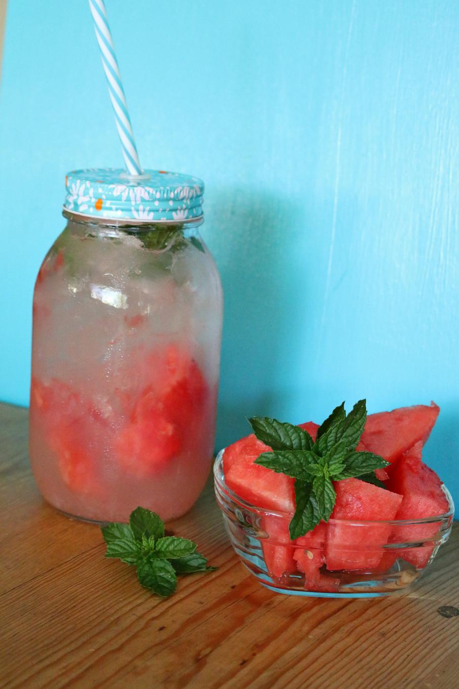 Watermelon Mint Aqua Fresca CeceliasGoodStuff.com Good Food for Good Peole