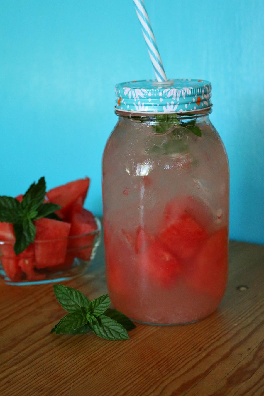 Watermelon Aqua Fresca a healthy, low carb summer drink. | CeceliasGoodStuff.com - Good Food for Good People |