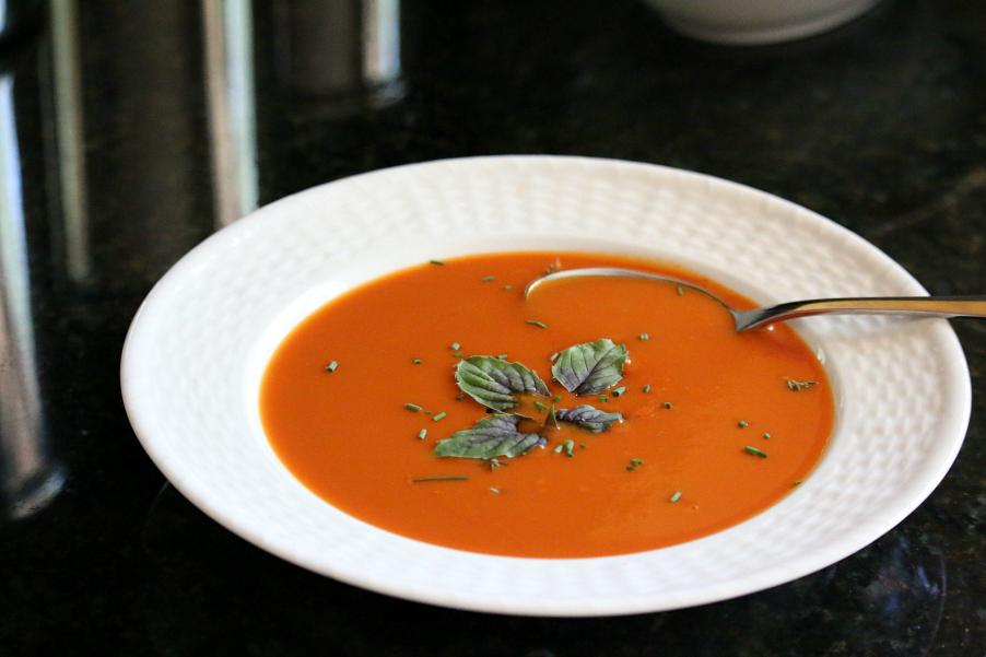 Easy Homemade Tomato Soup CeceliasGoodStuff.com Good Foood for Good People