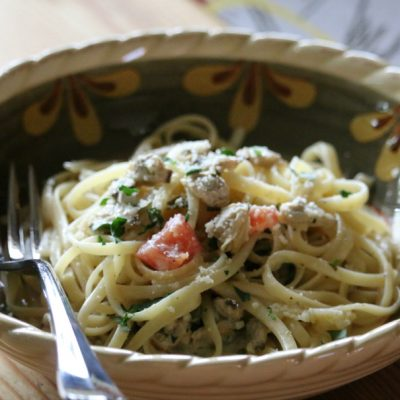 Linguine with a White Wine Clam Sauce