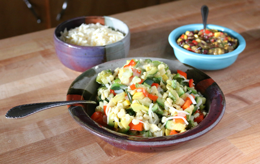 Calabacitas Mexican Squash Saute with Cheese CeceliasGoodStuff.com Good Food for Good People