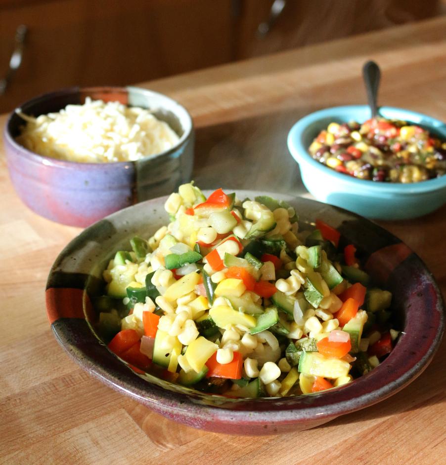 Calabacitas Mexican Squash SauteCeceliasGoodStuff.com Good Food for Good People