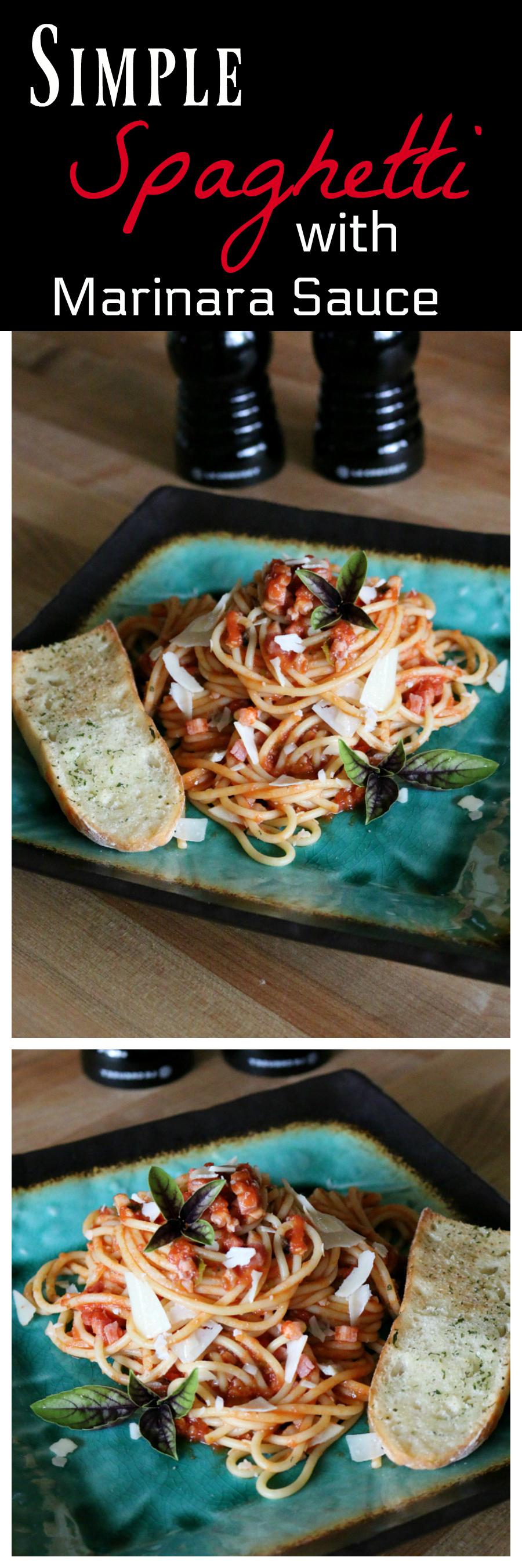 Simple Spaghetti with Marinara Sauce CeceliasGoodStuff.com Good Food for Good People
