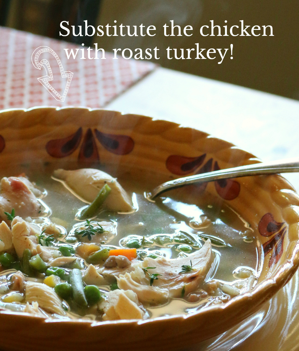 Turkey Soup Recipe - For you Thanksgiving Roast Turkey - 30-Minute Soup - CeceliasGoodStuff.com | Good Food for Good People