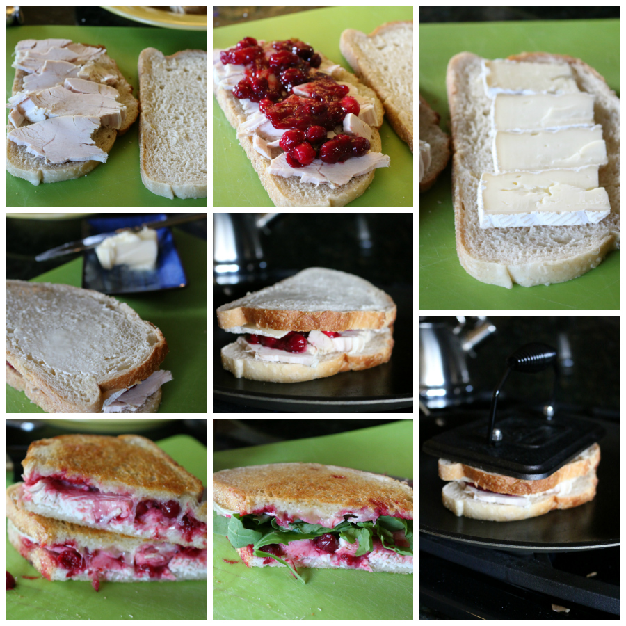 Grilled Turkey and Brie Sandwich with Cranberry Sauce