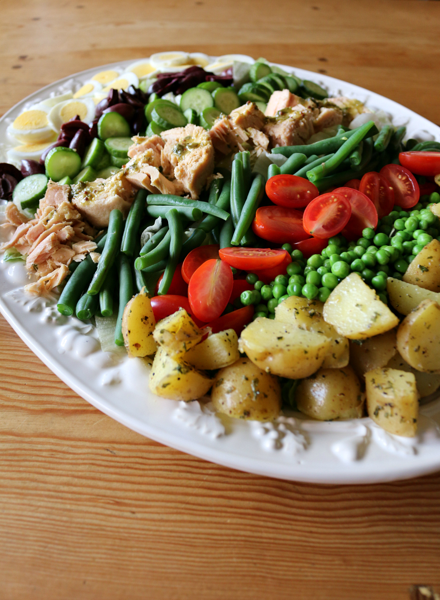 Scumptious Salad Nicoise Recipe with Lemon Caper Dressing CeceliasGoodStuff.com Good Food for Good People