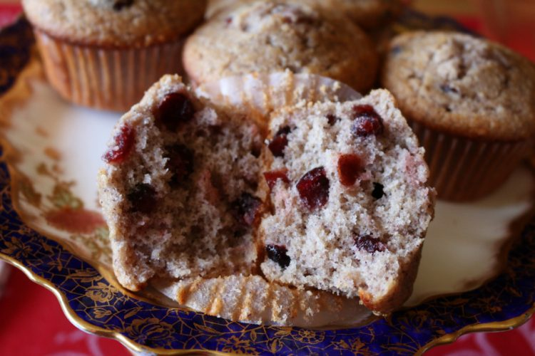 Cranberry Blue Corn Breakfast Muffins