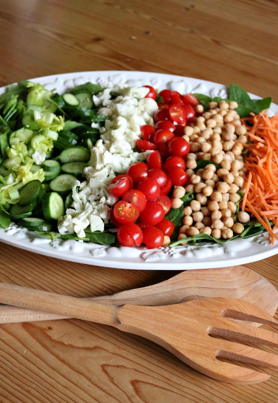 Spinach Vegan Salad with Lemon Vinaigrette CeceliasGoodStuff.com Good Food for Good People