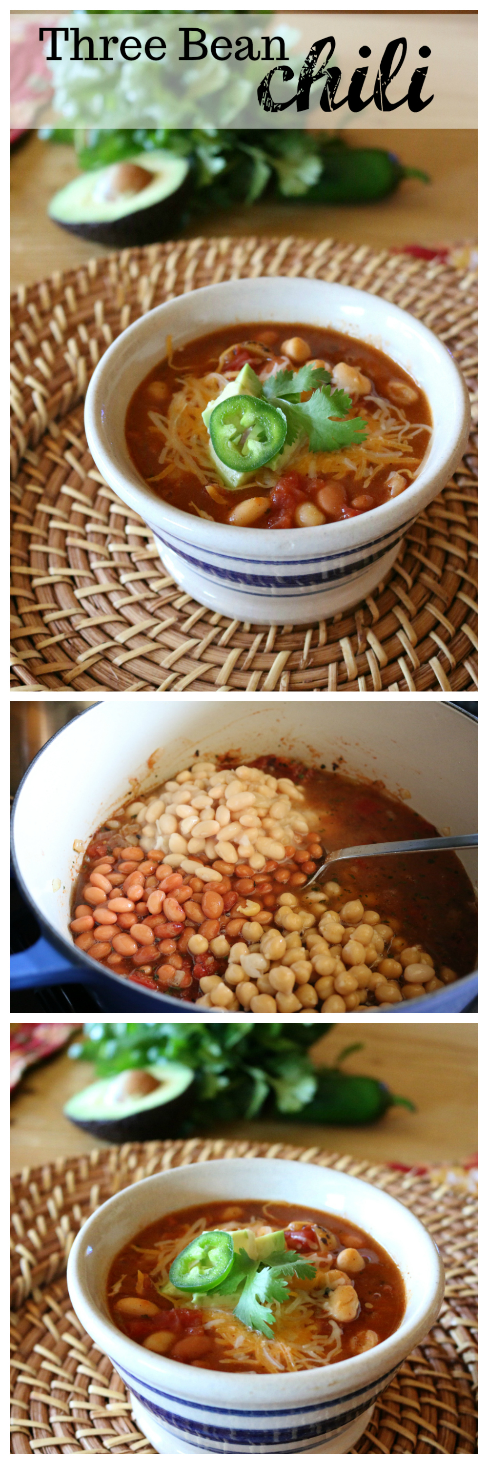 Three Bean Chili Recipe CeceliasGoodStuff.com | Good Food for Good People