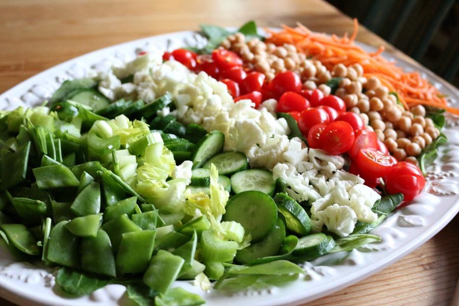 Spinach Vegan Salad with Lemon Vinaigrette Recipe CeceliasGoodStuff.com Good Food for Good People
