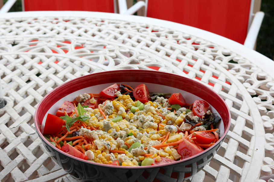 Sweet Corn Salad CeceliasGoodStuff.com Good Food for Good People