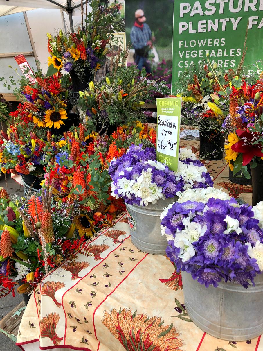 Boulder Farmers Market fresh cut flowers. Boulder, Colorado