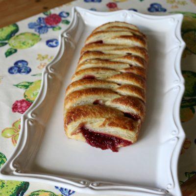 Raspberry Rhubarb Strudel